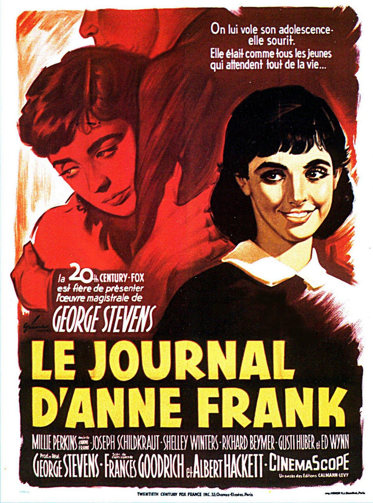 Affiche du film le journal d 39 anne frank - Le journal d eyragues ...