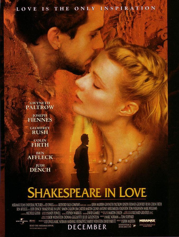 Affiche Du Film Shakespeare In Love
