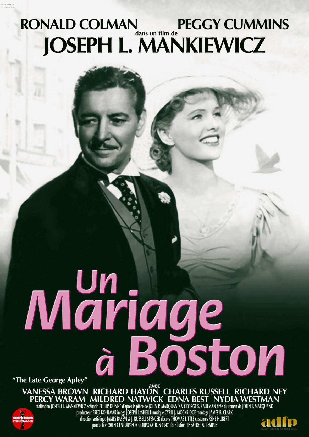 affiche du film un mariage boston - Film De Mariage