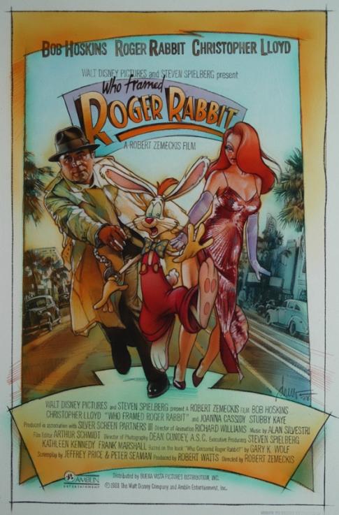 Affiche Roger Rabbit affiche du film qui veut la peau de roger rabbit ?