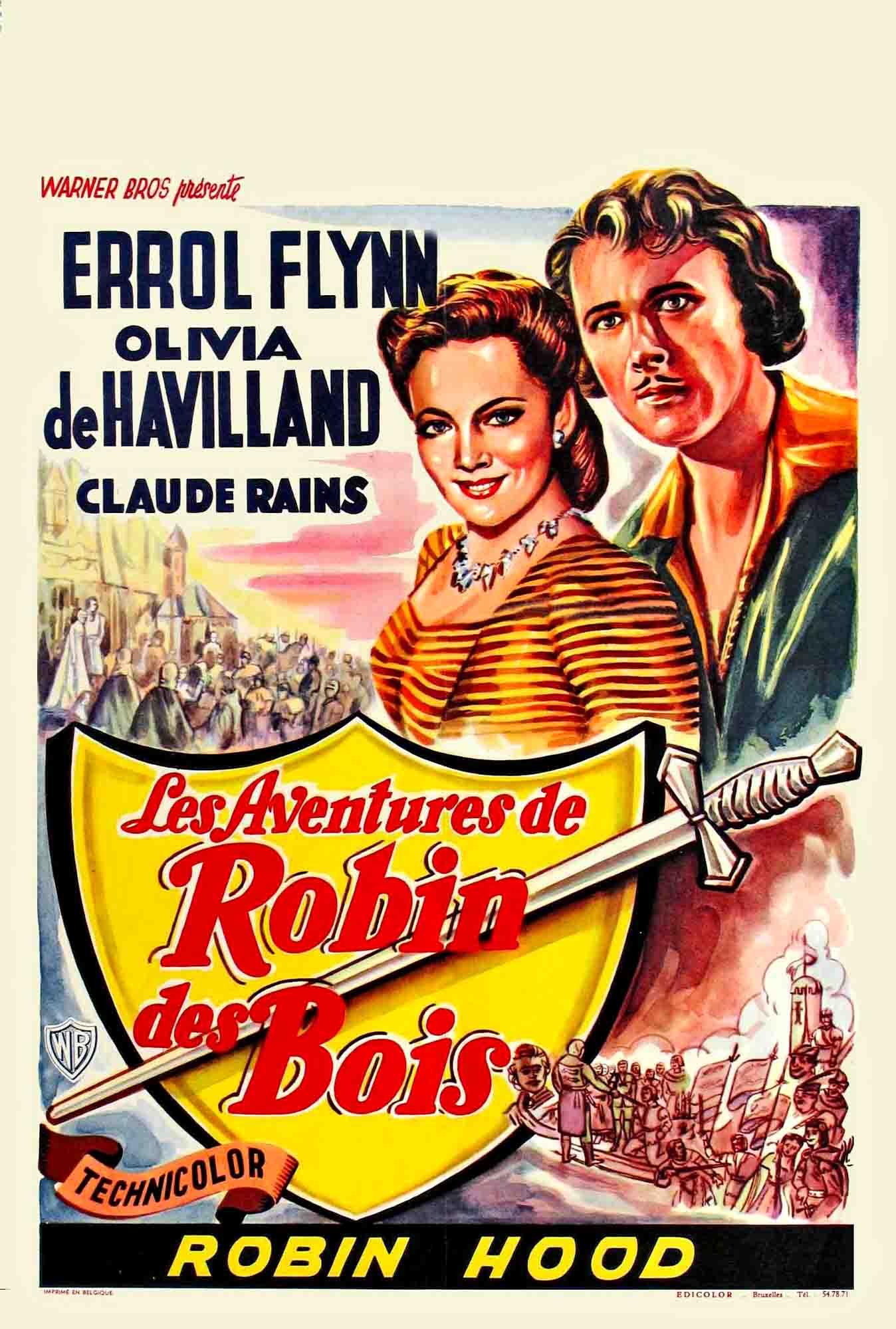 Affiche du film Les aventures de Robin des Bois ~ Film Robin Des Bois