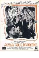 Affiche du film Demain Nous Divorcons