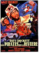 Affiche du film Davy Crockett et les pirates de la rivi�re