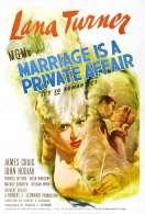 Affiche du film Le Mariage Une Affaire Privee