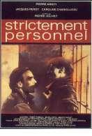 Affiche du film Strictement Personnel