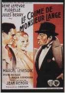 Affiche du film Le crime de Monsieur Lange