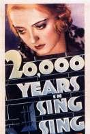 Affiche du film 20 000 ans � Sing-Sing