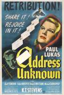 Affiche du film Adress unknown