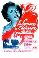 Affiche du film La femme � l'�charpe paillet�e