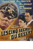 Affiche du film Les cinq secrets du d�sert