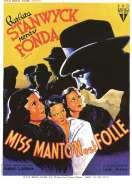 Affiche du film Miss Manton est folle