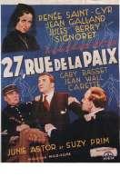 Affiche du film 27 Rue de la Paix