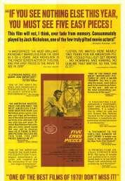 Affiche du film Five easy pieces