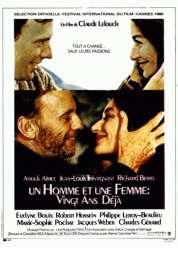 Affiche du film Un Homme et Une Femme 20 Ans Deja