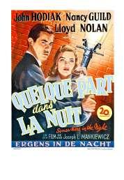 L'affiche du film Quelque Part dans la Nuit