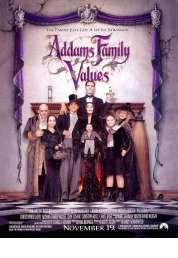 L'affiche du film Les valeurs de la famille Addams