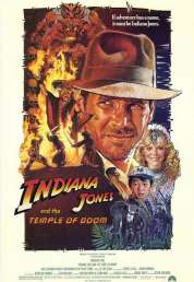Affiche du film Indiana Jones et le Temple Maudit
