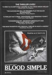 L'affiche du film Sang pour sang