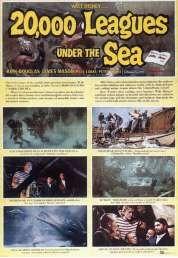 Affiche du film Vingt Mille Lieues Sous les Mers
