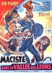 Affiche du film Maciste dans la Vallee des Lions