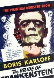 Affiche du film La fiancée de Frankenstein
