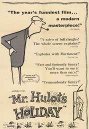 L'affiche du film Les vacances de Monsieur Hulot