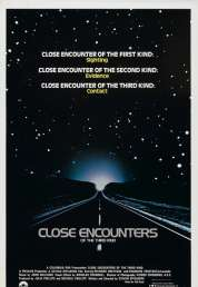 L'affiche du film Rencontres du troisième type