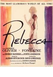 L'affiche du film Rebecca