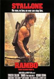 L'affiche du film Rambo II : la mission