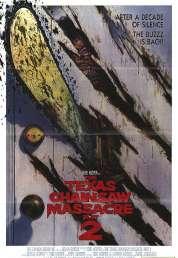 L'affiche du film Massacre a la tronconneuse 2