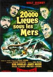 L'affiche du film 20 000 lieues sous les mers