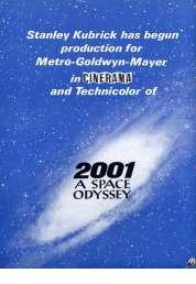L'affiche du film 2001 l'Odyssée de l'espace