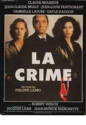 Affiche du film La Crime