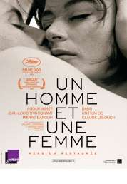 L'affiche du film Un homme et une femme