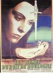 L'affiche du film Les dames du bois de Boulogne