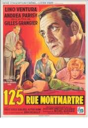 L'affiche du film 125 rue Montmartre