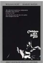 Affiche du film Les enfants du silence