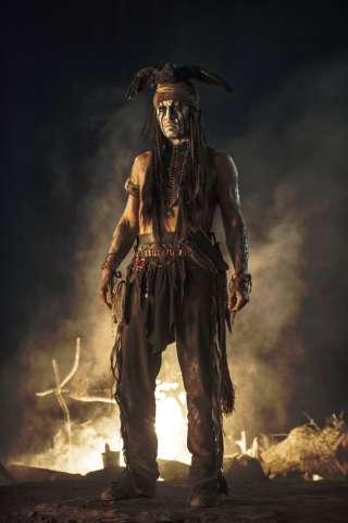 Johnny Depp dans Lone Ranger